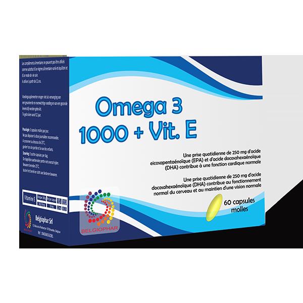 Omega 3 + vitamine E Belgiophar